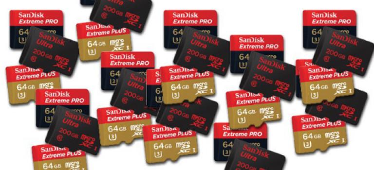 کمپانی SanDisk در مدت ۱۰ سال موفق به فروش ۲ میلیارد حافظه microSD شده است