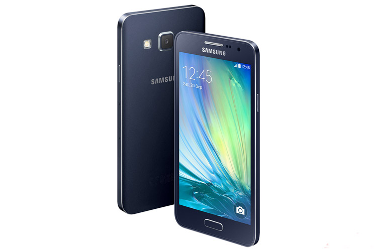 samsung galaxy A3 front and