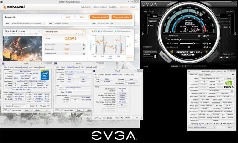 کارت گرافیک EVGA GTX 980 Ti Kingpin