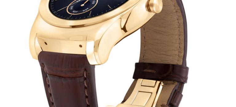 ال جی، Watch Urbane Luxe را با طلای ۲۳ عیار و بند چرمی معرفی کرد