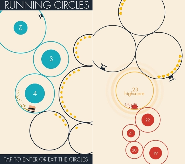 مسابقه دایره ها؛ معرفی بازی Running Circles