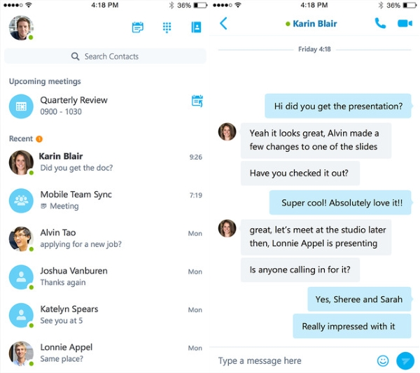 مایکروسافت اپلیکیشن Skype for Business را منتشر کرد
