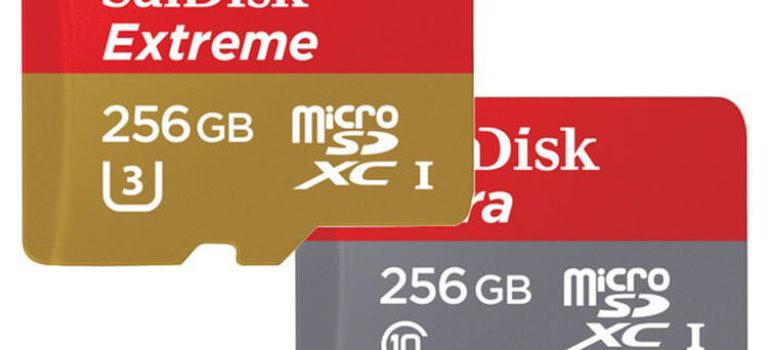 سن دیسک کارت های حافظهی میکرو اس دی ۲۵۶ گیگابایتی خود را معرفی کرد