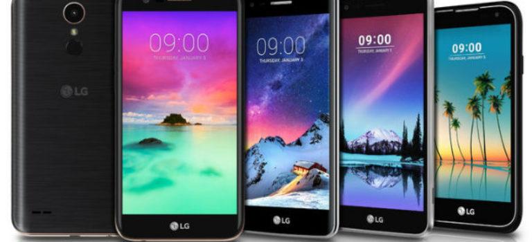ال جی از 5 تلفن همراه اندرویدی جدید رونمایی کرد