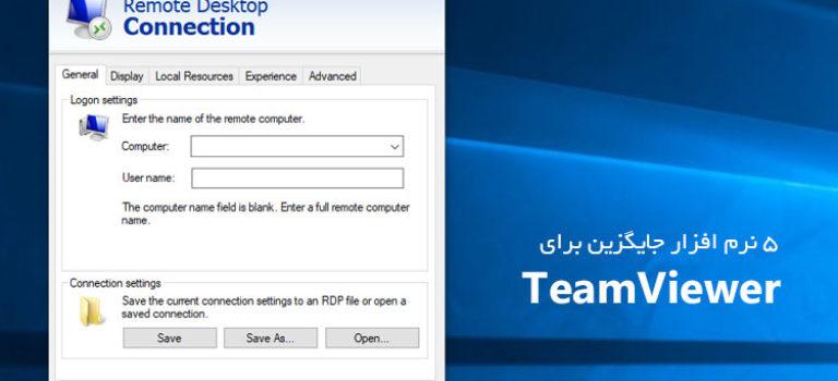 نرم افزار های جایگزین برای TeamViewer
