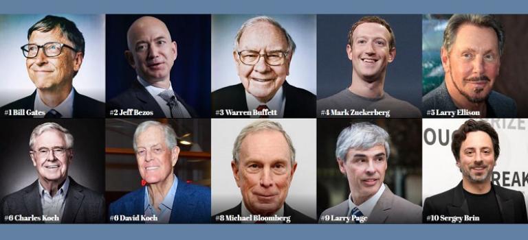 بنیانگذاران فناوری، فهرست میلیاردرهای فوربز را قبضه کردهاند