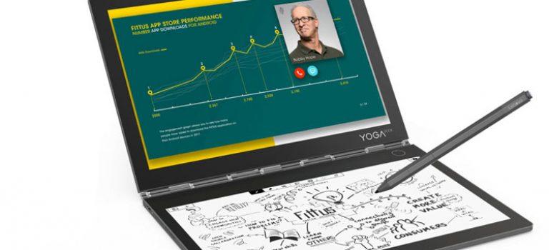 لنوو از یوگا بوک C930 به عنوان اولین لپ تاپ مجهز به دو نمایشگر رونمایی کرد